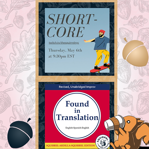 ShortCore & Found in Translation