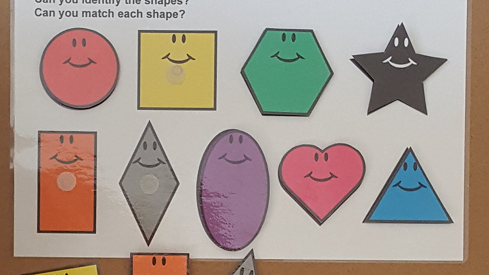 Matching shapes (colour) Activity Page