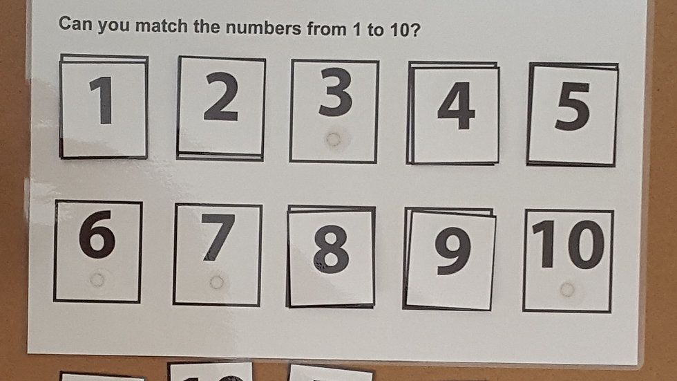 Numbers 1-10 Activity Page