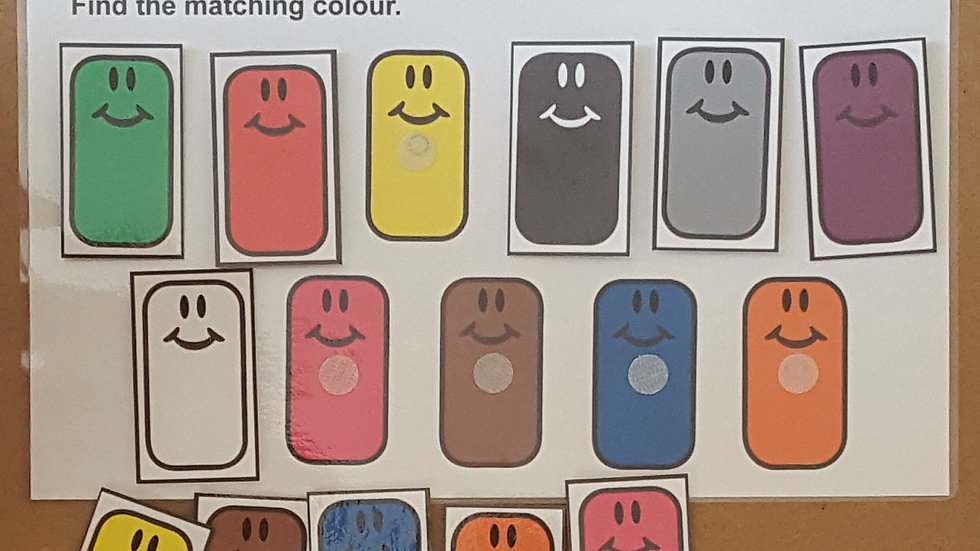 Matching Colours Activity Page