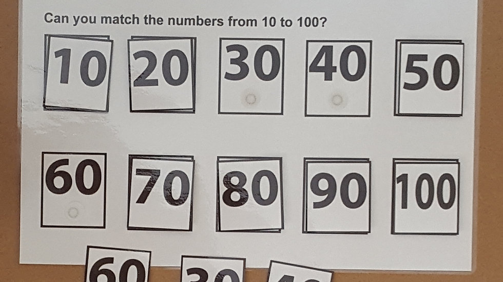 Numbers 10-100 Activity Page