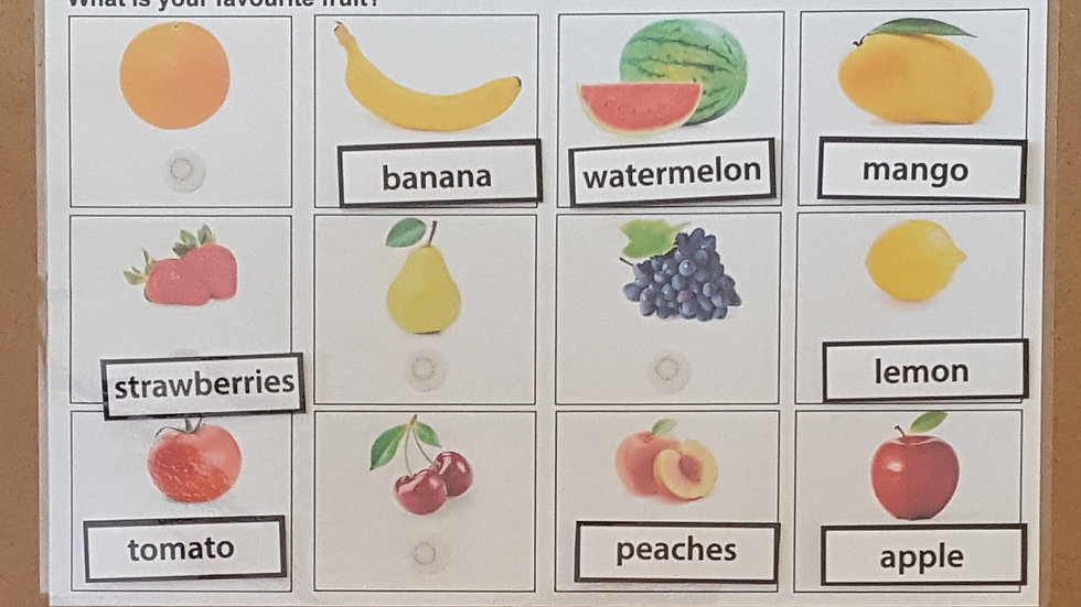 Fruit Activity Page