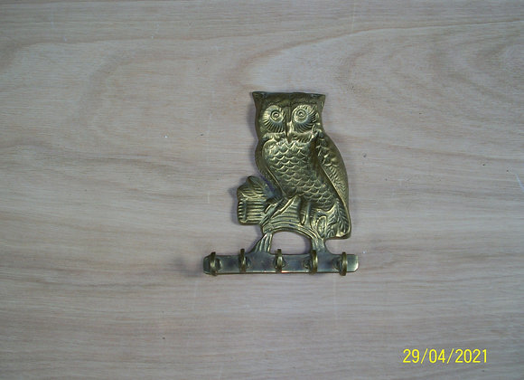 Porte-clés Hibou en cuivre