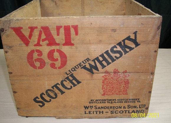 Ancienne caisse de Whisky