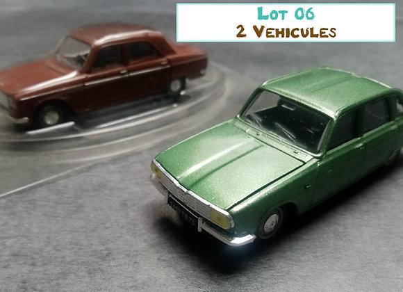 Lot de 2 voitures miniatures