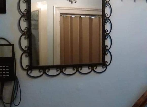 Lot fer forgé - Miroir - commode - porte-manteau
