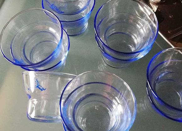 Lot de 11 verres