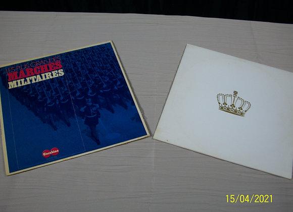 """Lot de Vinyles """"Marches militaires"""""""