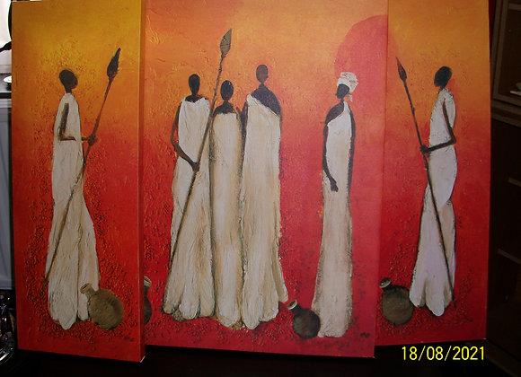 lot 3 tableaux Afrique