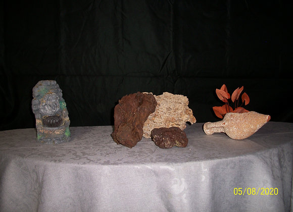 Ensemble de décoration aquarium