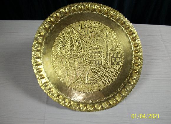 Plateau en fer doré