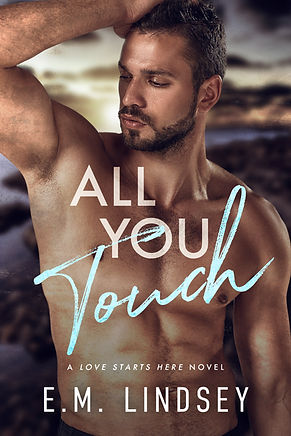 A white shirtless man with his arm up, looking to the side.  Text reads All You Touch a lo