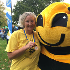 Tracie and Bumble and medal 29th Sept 20
