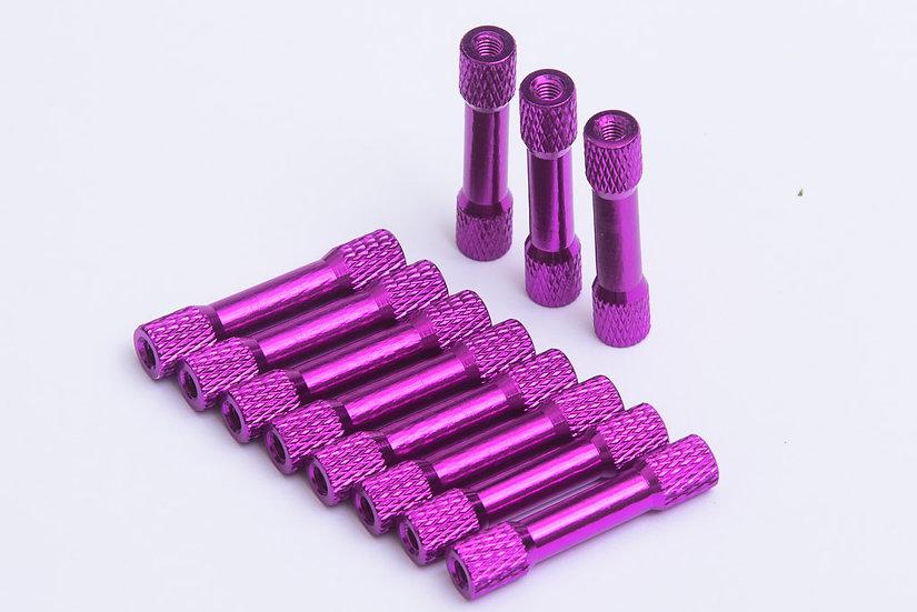 30mm M3 Standoffs - Purple x 4