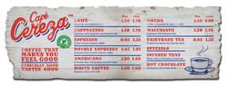 Cafe Cereza tariff board