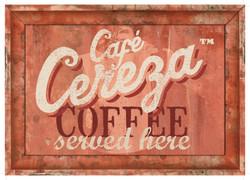 Cafe Cereza hanging sing