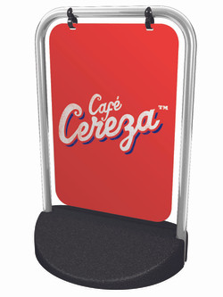 Cafe Cereza swing sign