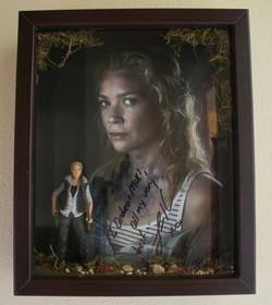 Andrea TWD signed print diorama