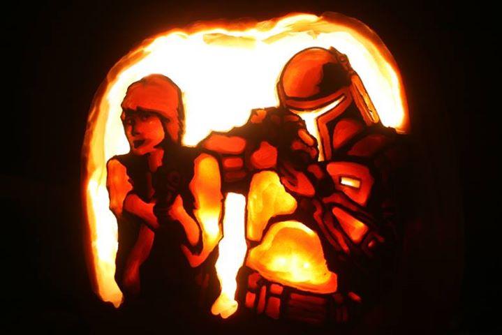 Bounty hunters pumpkin
