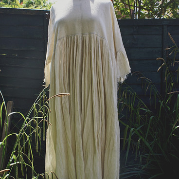 Sussex Smock Long Natural Muslin