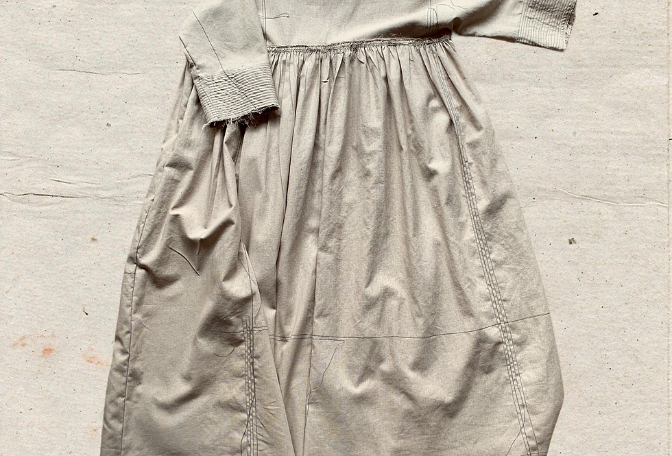 Hartigan Smock Dress Plaster Linen