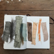 A colour palette: Testing out colour combinations and finishes