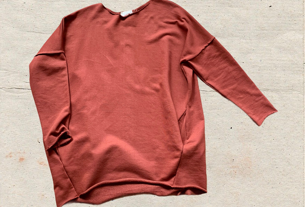 Cocoon Sweat Top Sun-Dried Tomato