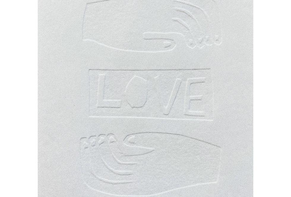 Love Embossed Print