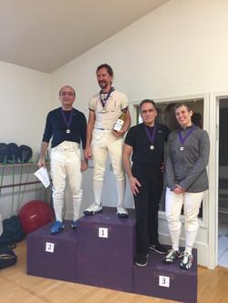 Ludus Veteran Foil medalists 10.14.18