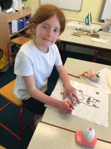 Sew CUTE!   Designing and Drawing Design onto Fabric!