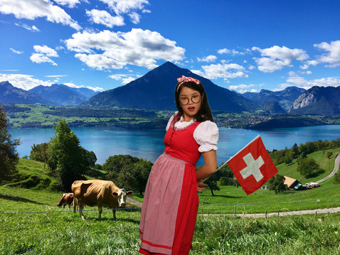 Traditional Swiss outfit rental at Heidi's Photo Chalet