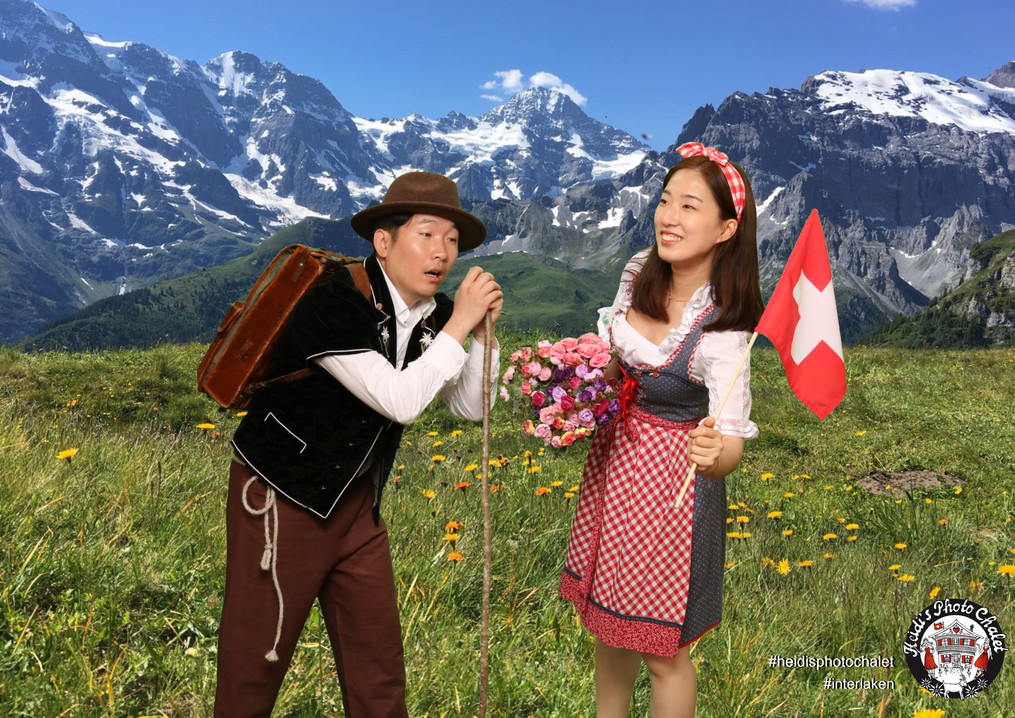 Heidi's Photo Chalet dress up fun in Interlaken