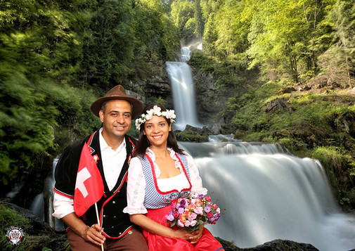Swiss dress up photos in Interlaken