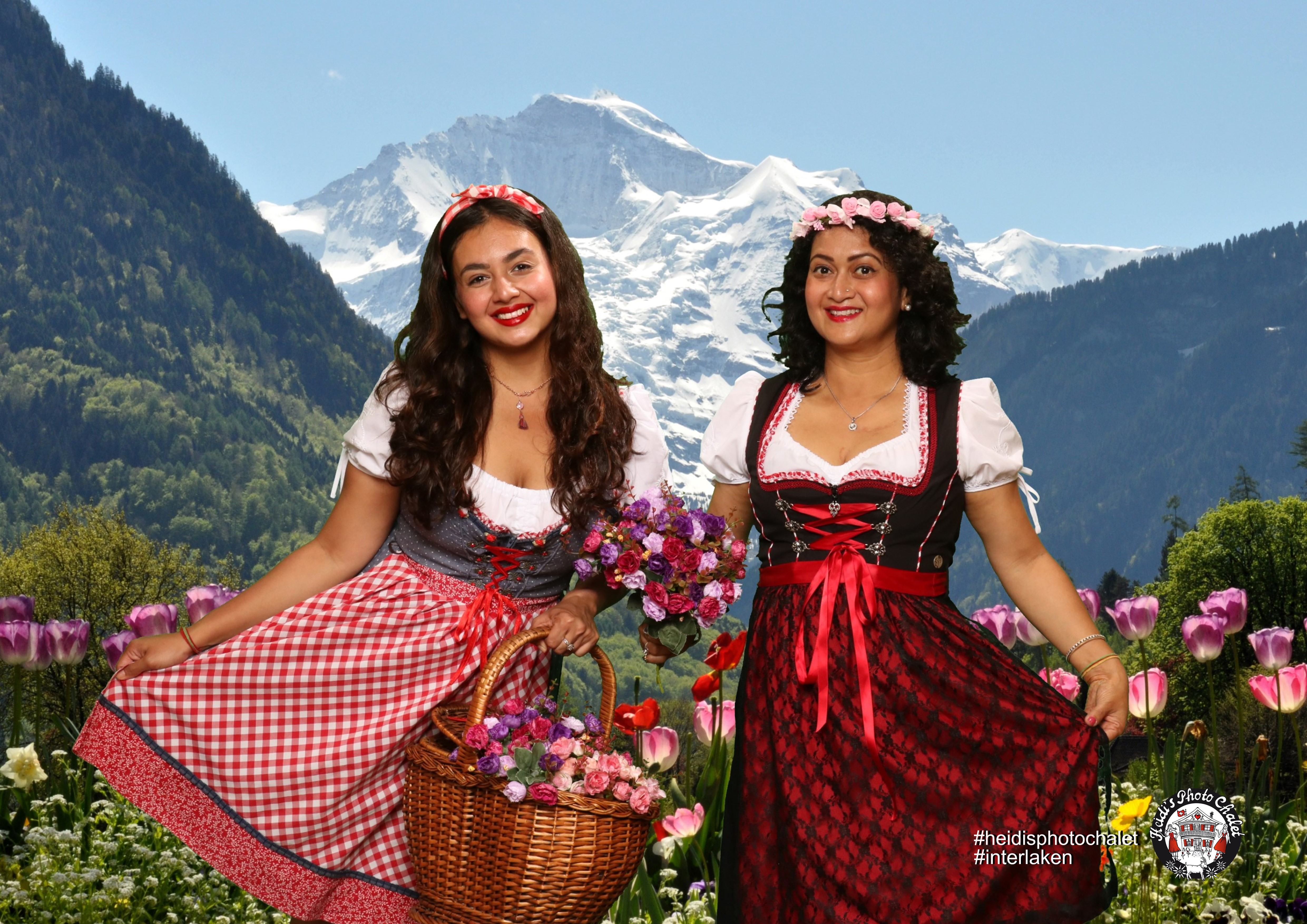 Swiss dress up fun in Interlaken