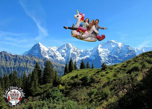 Let's ride an unicorn über das Jungfraujoch - nur bei Heidi's Photo Chalet