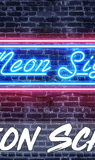 Leuchtendes Neon Schild erstellen