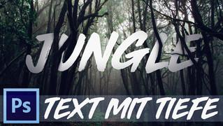 Text durch Tiefe in Foto integrieren