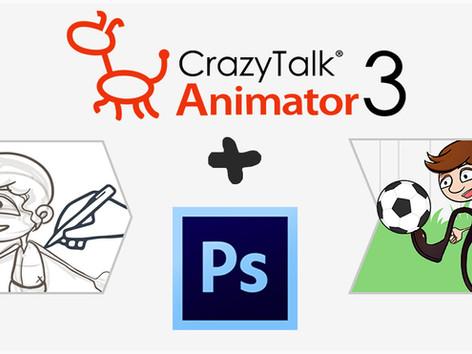 Von Photoshop zur Animation - CTA3 .PSD-Import-Funktion
