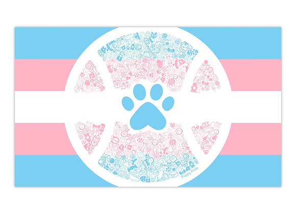 Trans Pup Pride Flag