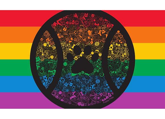 Rainbow Pup Pride Flag