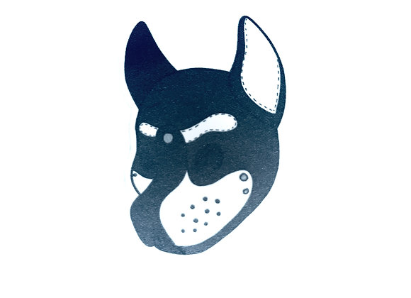 Pup Hood Vinyl Sticker