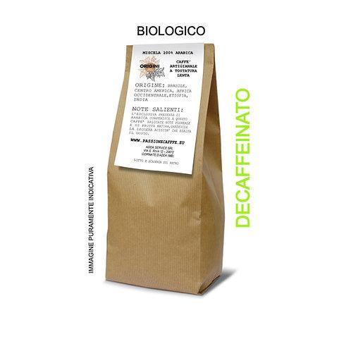 CAFFE' BIOLOGICO DECAFFEINATO 250gIN GRANI