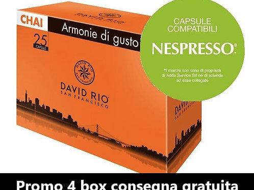 Box 25 Chai Capsule compatibili NESPRESSO