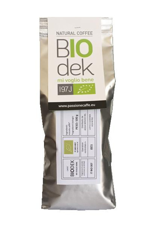 CAFFE' BIOLOGICO DECAFFEINATO 500g in grani