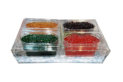 Contenitore plexiglass 4 vasche bubble