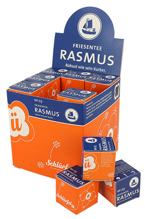 N°3 RASMUS Te nero forte 27 filtri