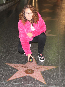 Linda at Michael Jackson star