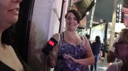 Young woman using Mel meter