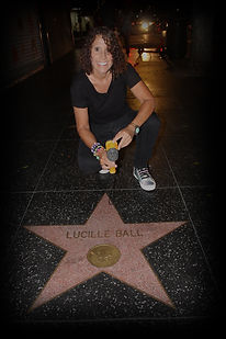 Linda with Lucille Ball's star
