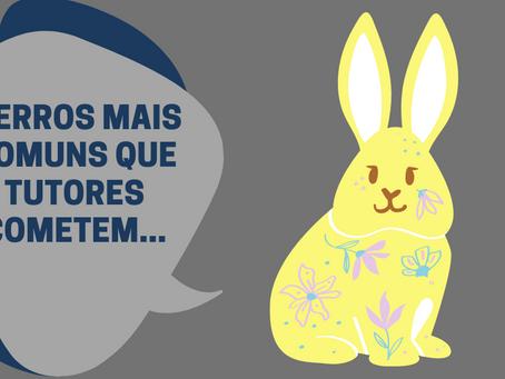 5 erros mais comuns que tutores de coelhos cometem: